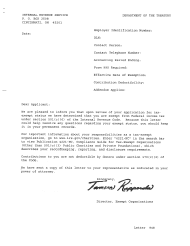 """Sample """"IRS Letter 948, Determination Letter Recognizing Exemption Under IRC 501(A)"""""""