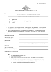 "Form 6 ""Order for Disposal of Tissue Kept for Testing"" - Queensland, Australia"