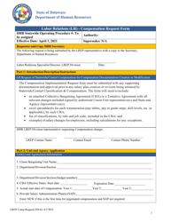 """Labor Relations (Lr) - Compensation Request Form"" - Delaware"