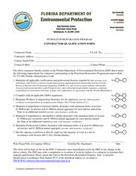 "Form 032221 ""Contractor Qualification Form"" - Florida"