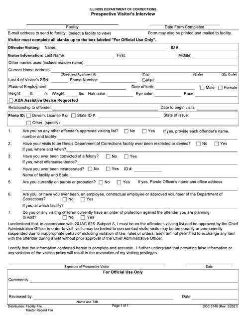 Form DOC0148 Printable Pdf
