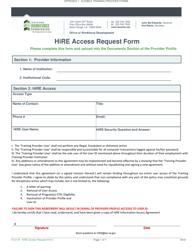 "Form B ""Hire Access Request Form"" - Louisiana"