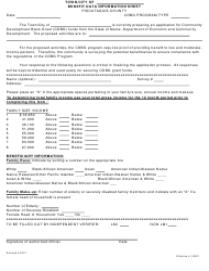 """Benefit Data Information Sheet"" - Piscataquis County, Maine"