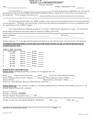 """Benefit Data Information Sheet"" - Waldo County, Maine"