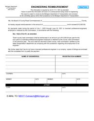 "Form 2044 ""Engineering Reimbursement"" - Michigan"