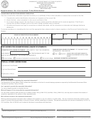 """Form PS2025A """"Application for Corrected Title/Odometer"""" - Minnesota"""