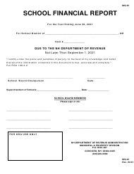 "Form MS-25 ""School Financial Report"" - New Hampshire, 2021"