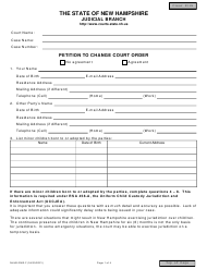 """Form NHJB-2062-F """"Petition to Change Court Order"""" - New Hampshire"""