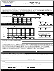 """Architect Form 4 """"Verification of Supervised Experience"""" - New York"""