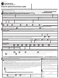 """Form DL-54B """"Photo Identification Card - Application for Change/Correction/Replacement/Renew"""" - Pennsylvania"""