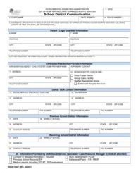 "DSHS Form 10-427 ""School District Communication"" - Washington"