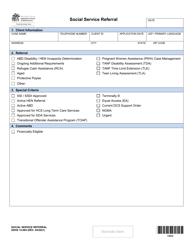 "DSHS Form 14-084 ""Social Service Referral"" - Washington"
