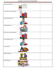 Sample Preschool Daily Schedule