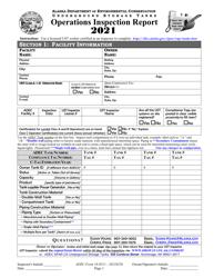 "ADEC Form 18-0511 ""Ust Operations Inspection Report"" - Alaska, 2021"