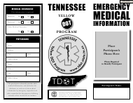 """""""Emergency Medical Information - Tennessee Yellow Dot Program"""" - Tennessee"""