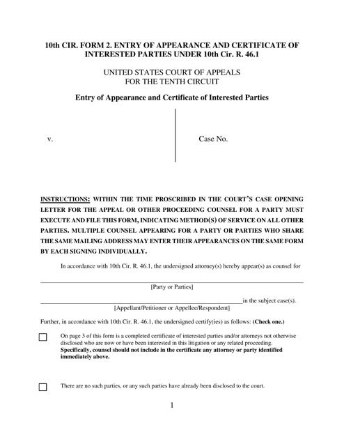 Form 2  Printable Pdf