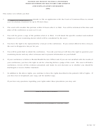 """Form MH784A """"Notice of Intent to File a Petition for Extended Involuntary Treatment and Explanation of Rights (303)"""" - Pennsylvania (English/Spanish)"""