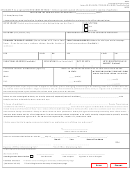 """Form AW2-8 """"Application for Nomination by Convention of Party"""" - Texas (English/Spanish)"""