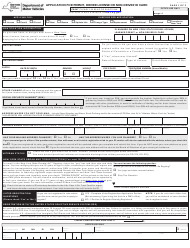 """Form MV-44 """"Application for Permit, Driver License or Non-driver Id Card"""" - New York"""