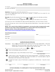 """Form CIV-725 """"Notice to Quit Eviction for Non-payment of Rent"""" - Alaska"""