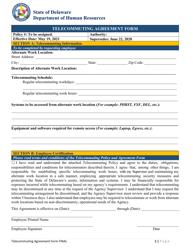"""Telecommuting Agreement Form"" - Delaware"