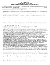 """Premium and Rehabilitation Reimbursement Agreement"" - Illinois, 2022"