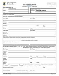 "Form PC-8.2 ""Adult Adoption Petition"" - Rhode Island"
