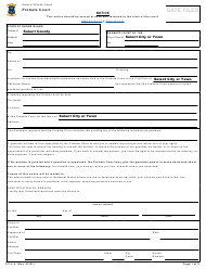 """Form PC-2.4 """"Notice of Limited Guardianship or Guardianship"""" - Rhode Island"""