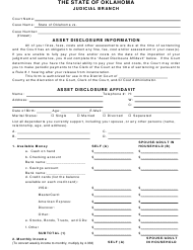 """Asset Disclosure Affidavit"" - Oklahoma"