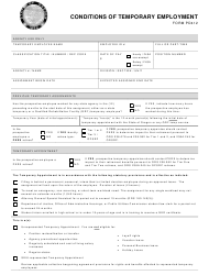 """Form PD412 """"Conditions of Temporary Employment"""" - Oregon"""