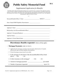 """Form M-1 """"Supplemental Application for Benefits"""" - Oregon"""