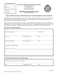 "Form R-1 ""Fire Service Agency Accreditation"" - Oregon"