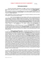 "Exhibit F-7 ""Form Site Occupancy Agreement"" - Pennsylvania"