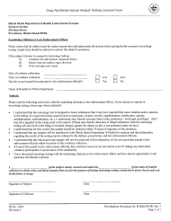 """Form FB-085 """"Drug Facilitated Sexual Assault Testing Consent Form"""" - Rhode Island"""
