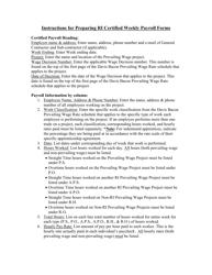 "Instructions for Form DLT-WRS-1 ""Rhode Island Certified Weekly Payroll"" - Rhode Island"