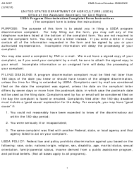 "Form AD-3027 ""Program Discrimination Complaint Form"""