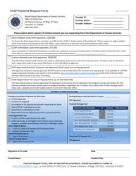 """Ccap Payment Request Form"" - Rhode Island"