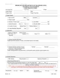 "Form 313-AF4 ""Core Request Form"" - Rhode Island"