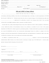 """Dbe and Acdbe No Change Affidavit"" - Rhode Island"