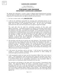 "Form PC-2B ""Department Cardholder Agreement"" - Rhode Island"