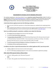 """Real Estate Broker Application"" - Rhode Island"