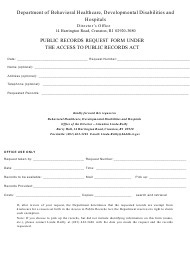 """""""Public Records Request Form Under the Access to Public Records Act"""" - Rhode Island"""