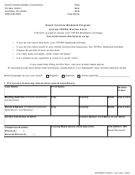"Form WKR009 ""Annual Tefra Review Form"" - South Carolina"