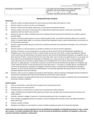"Formulario 7-7 ""Informacion Para Votantes"" - Texas (Spanish)"