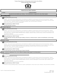 "Form 23 ""Public Services Draw Checklist"" - Texas"