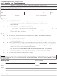 """""""Application for Part Time Employment"""" - Utah"""