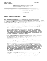 """ICPC Form 3 """"Regulation 7 Order of Compliance for Expedited Placement Decision Pursuant to the Icpc"""" - Utah"""