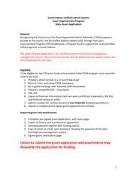 """Data Grant Application - Court Improvement Program"" - South Dakota"