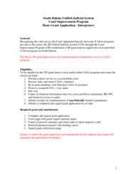 """Basic Grant Application - Interpreters - Court Improvement Program"" - South Dakota"
