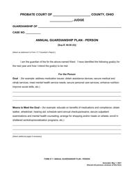 "Form 27.7 ""Annual Guardianship Plan - Person"" - Ohio"
